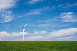 molino de energía eólica sostenible